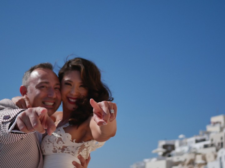 Jadelin & Petro, wedding teaser in Santorini, Greece